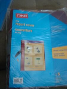 STAPLES POLY REPORT COVER LETTER SIZE 21641