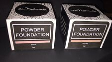 BRAND NEW IN BOX, Set of 2 Powder Foundations by Au Naturale in Sand/Honey 9g