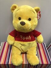"Ty Beanie Buddy~ Winnie The Pooh-10"" Medium Size Plush NWMT.* Smoke Free Home *"