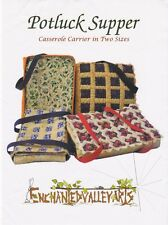 Potluck Supper, Casserole Carrier in Two Sizes, DIY Sewing Pattern