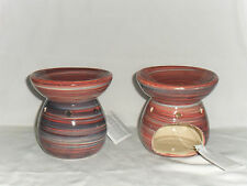 Tart/Oil Burner Ceramic Coloured Swirl Design(can be used with Yankee candles