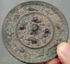 Old mirror folk collecton! china Dynasty copper Statue