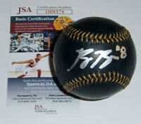 BREWERS Ryan Braun signed baseball Black Leather w/ #8 JSA AUTO Autographed MVP
