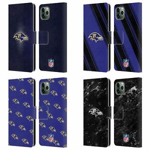 OFFICIAL NFL BALTIMORE RAVENS ARTWORK LEATHER BOOK CASE FOR APPLE iPHONE PHONES