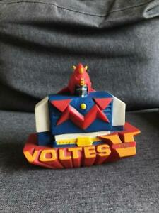 Voltes V Coin Bank Vintage Vinyl 5 Inches with Bottom Covers