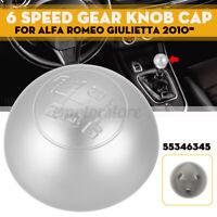 6 Pommeau Levier de vitesse Mat argent 55346345 pour Alfa Romeo Giulietta 2010-