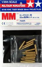 Tamiya King Tiger Brass 88mm Shells 1:35 Scale #35166