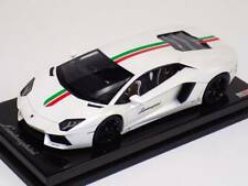 1/18 MR Collection Lamborghini Aventador LP700 White Italian Flag Carbon Base