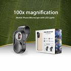 100X Mobile Phone Microscope Lens LED Cell Phone Microscope Magnifying Lenses