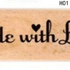 Stamp Can Chose Wood Wooden Seal DIY Handmade 1pcs Rubber Stamps Seal Photo