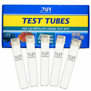API 5ml Test Tubes Spare for Test Kit with Caps Replacement Aquarium Fish Tank
