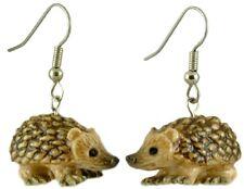 JE107 - Hedgehog Earrings - Surgical Steel Porcelain Dangle - little Critterz