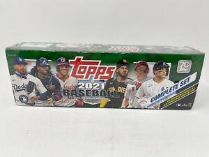 Topps 2021 MLB Baseball🔥Trading Card Complete Factory SEALED GREEN Set 🔥