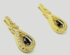 Saphir  Diamant  Ohrstecker   925  Sterling Silber Vergoldet