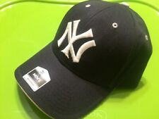 """NEW"" New York Yankees HAT Black/White Baseball Cap NY MLB ADJUSTABLE FREE S/H !"