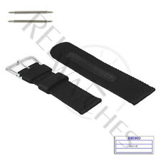 Genuine SEIKO 4A211JL 22mm Black Nylon Band + Pins | SNZG15 Military Watch Strap