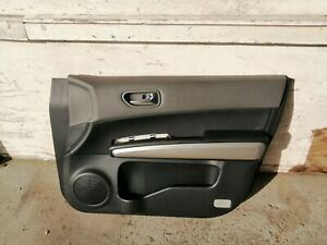 NISSAN X-TRAIL T31 2007-2013 RHD DRIVERS/OFFSIDE BLACK LEATHER FRONT DOOR TRIM