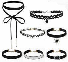 Womens Ladies Chocker Necklace Charm Jewelry Pendant Full Gothic Bib Chain