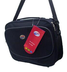 New AMERICAN TOURISTER Travel Flight Shoulder Bag Black