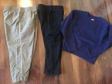 3 piece boys lot HANES SWEATSHIRT navy shirt PANTS black brown CIRCO SIZE 3T