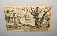Old Antique Vtg Ca Late 1800's Browns Iron Bitters Advertising Trade Card Puzzle