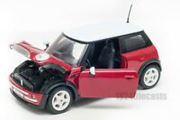 Mini Cooper in Red/White, Welly 22075, scale 1:24, model adult boy gift