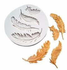 Feather silicone mould mold Cup Cake Chocolate decorating sugarcraft fondant SM
