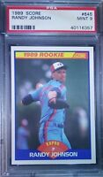 1989 Score Randy Johnson #645 PSA 9 MINT Rookie Expos Mariners Diamondbacks 🔥📈