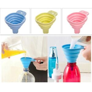 Funnel Foldable Mini Silicone Collapsible Kitchen Hopper Gel Tool Cooking Style