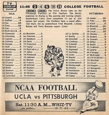 1964 COLLEGE FOOTBALL TV AD~UCLA BRUINS VS PITTSBURGH PANTHERS~LARRY ZENO