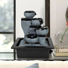 10 inch 4-Tier Tabletop Water Fountain Submersible Pump Decoration Fountain