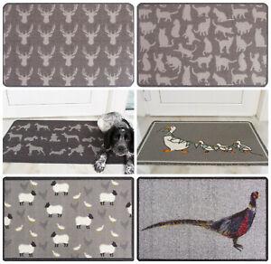 Animal Print Doormats Non Slip Washable Pet Door Mat Cat Dog Dirt Catcher Mats
