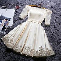 NEW Evening Formal Party Ball Gown Prom Bridesmaid Short Embroidery Dress TSJY