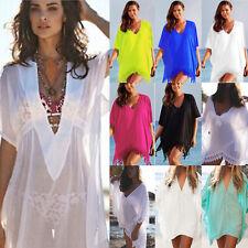 Women Tassel Swimwear Baggy Bikini Cover Up Summer Beachwear Kaftan Loose Dress