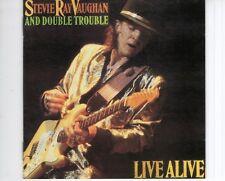 CD STEVIE RAY VAUGHNlive aliveEX  (B1983)