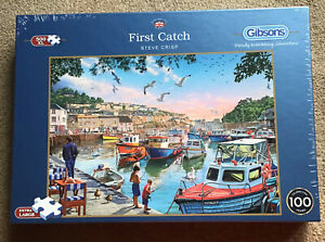 Gibsons First Catch Jigsaw Puzzle, 500XL Pieces.  Brand New