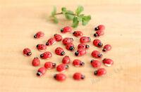 DIY Wooden art Red Ladybugs beetle fridge stickers Wall stickers 10pcs/set ooo