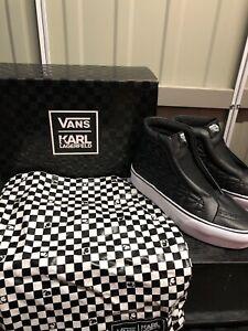 Vans x Karl Lagerfeld Sk8 Hi Laceless UK 4.5 - Brand New In Box