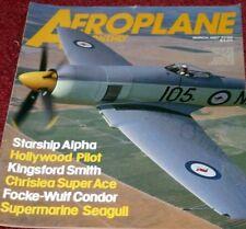Aeroplane Monthly Magazine 1987 March Chrislea,Fw200,Seagull,Hurricane,Auster