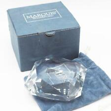 Waterford Marquis Cut Crystal Paperweight Signed Faceted Gemstone Shape