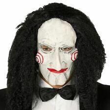 Adult Scary Jigsaw Horror Puppet Doll Mask Fancy Dress Halloween Saw Movie