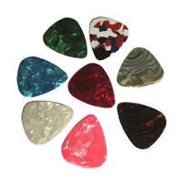 20pcs Mediators de guitare mince 0.46mm Couleurs aleatoires P7N6