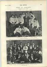 1898 Girls As Gymnasts Birmingham Irish Team Photographs Tree Felling