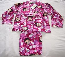 Betty Boop Girls 2 Piece Flannel Pyjama Set Size 8 New