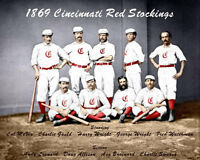 1869 Cincinnati Red Stockings Photo 8X10 - COLORIZED  Buy Any 2 Get 1 Free