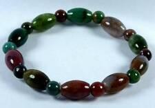 Indian Agate Gemstone Bracelet [B] (8x12mm Beads x10)