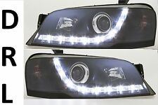 Black housing Headlights for Ford Falcon BA Model Sedan Ute Wagon DRL Like LED