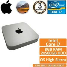 Apple Mac Mini A1347 Core i7 2.00GHz 16GB RAM 2x500GB HDD (Mid 2011) High Sierra