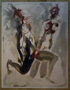 Erotische Darstellung: Zwei Männer..Sign. undeutlich Ernst R...?