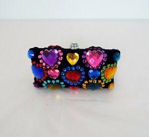 Butler & Wilson - Women's clutch bag - Multi-Coloured Heart Gemstones